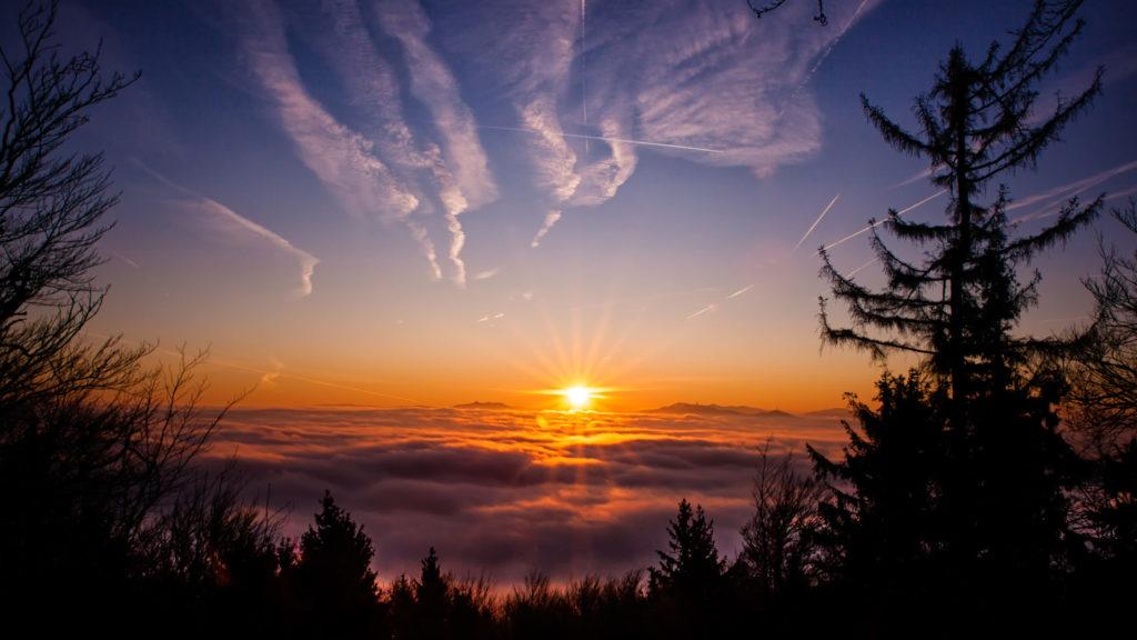 Sonnenaufgang am Reiseck Gibacht