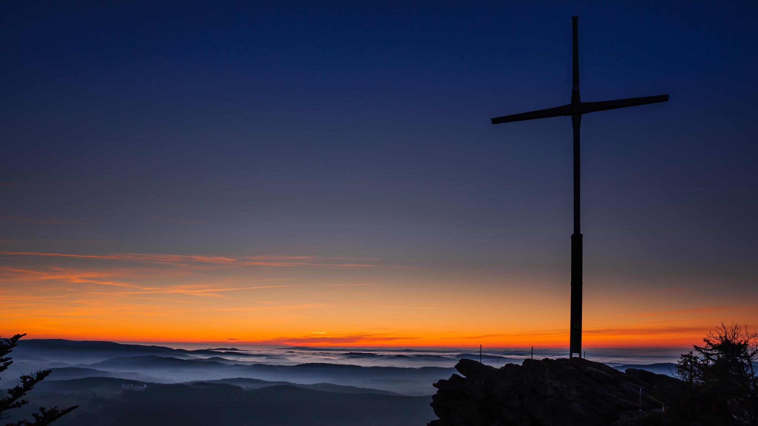 Sonnenuntergang am Kreuzfelsen